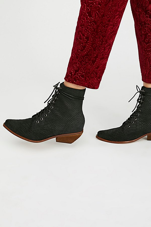 Slide View 1: Suede Grove Lace-Up Western Boot
