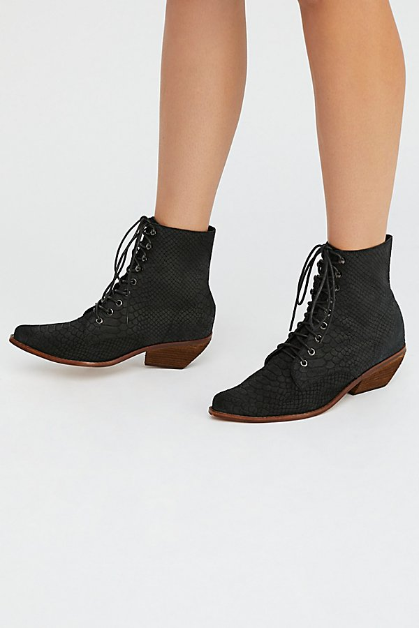 Slide View 2: Suede Grove Lace-Up Western Boot