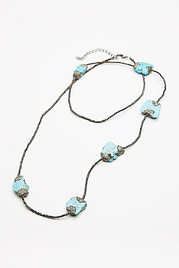 Pyrite x Turquoise Layering Necklace