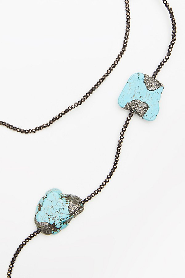 Slide View 2: Pyrite x Turquoise Layering Necklace