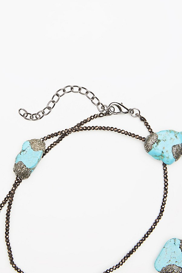 Slide View 3: Pyrite x Turquoise Layering Necklace