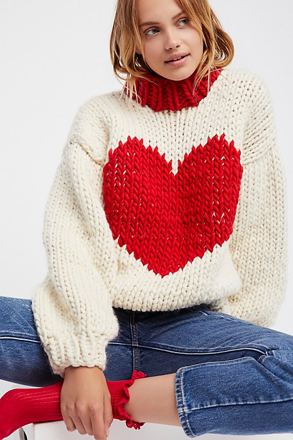 Slide View 1: Happy Hearts Sweater