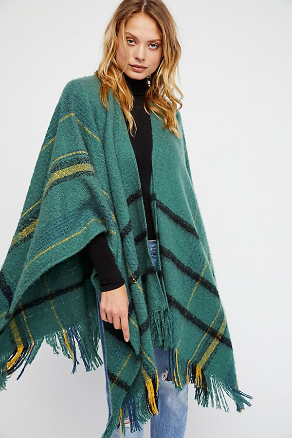 Slide View 1: Brighton Brushed Plaid Kimono