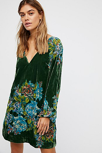 Misha Burnout Velvet Mini Dress