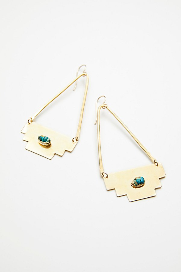 Slide View 2: Dry Creek Turquoise Hoops