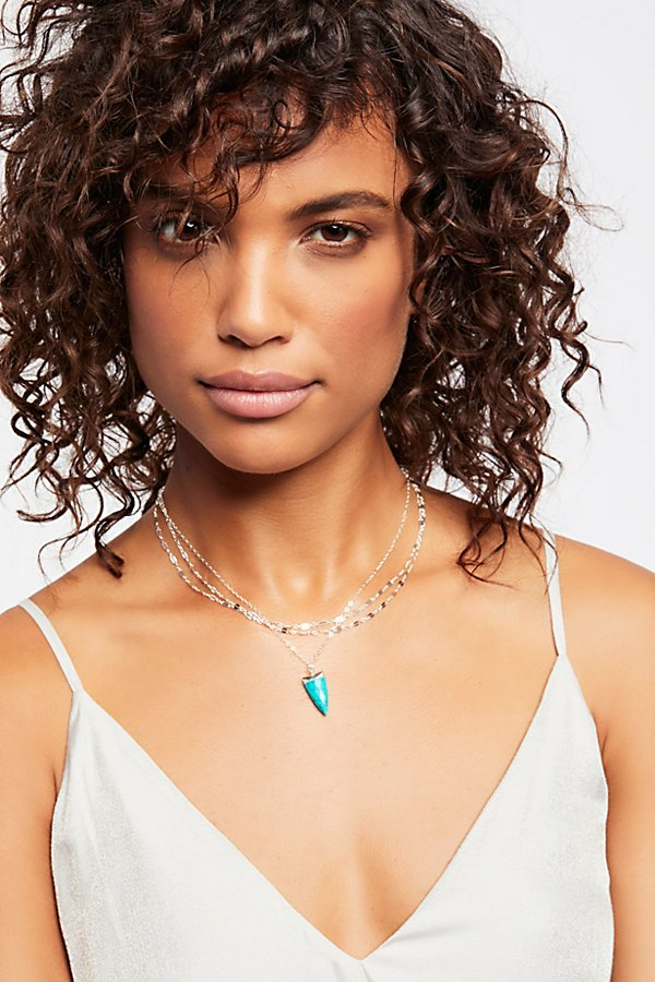 Slide View 1: Triple Delicate Stone Necklace