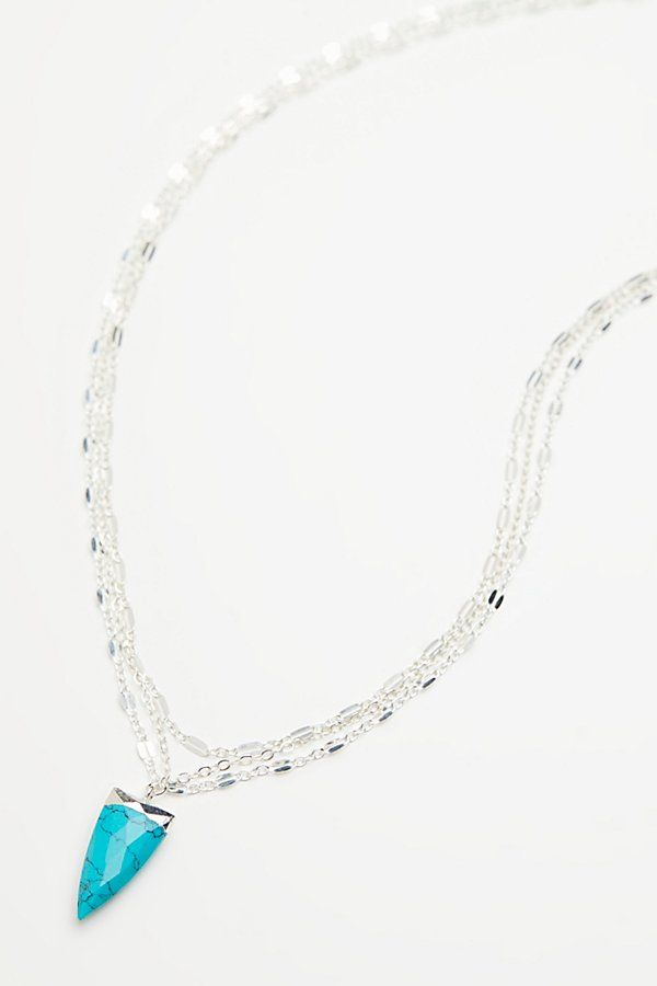 Slide View 2: Triple Delicate Stone Necklace