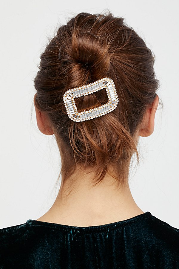 Slide View 1: Rhinestone Oval Clip