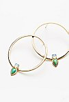 Thumbnail View 2: Aurora Stone Droplet Hoops