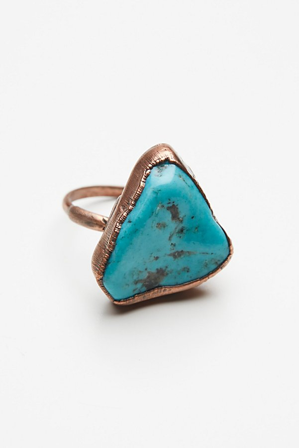 Slide View 2: Turquoise Electroform Ring
