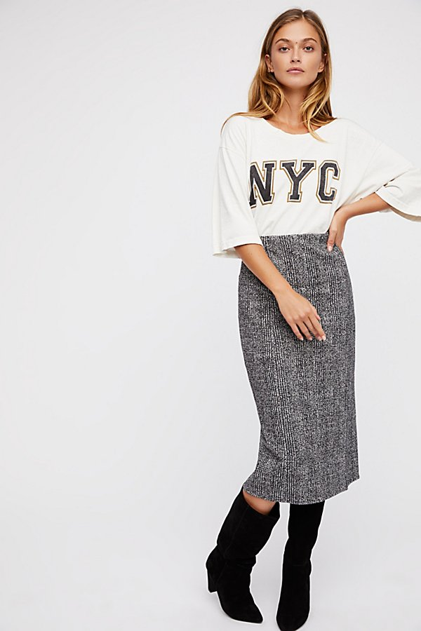 Slide View 1: From Desk 'Til Dawn Midi Skirt