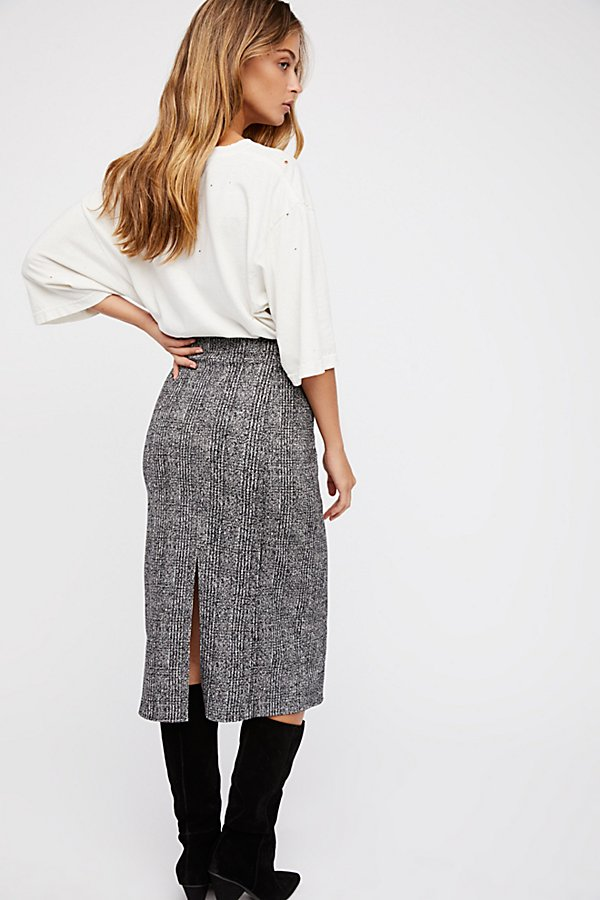 Slide View 2: From Desk 'Til Dawn Midi Skirt