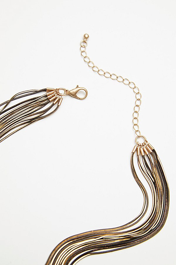 Slide View 4: Golden Divine Delicate Necklace
