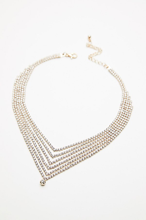 Slide View 2: Athena Tiered Crystal Necklace