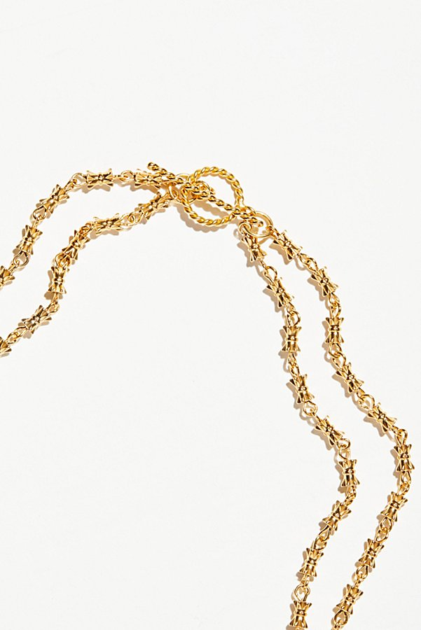 Slide View 3: Two Chain Magdalena Necklace