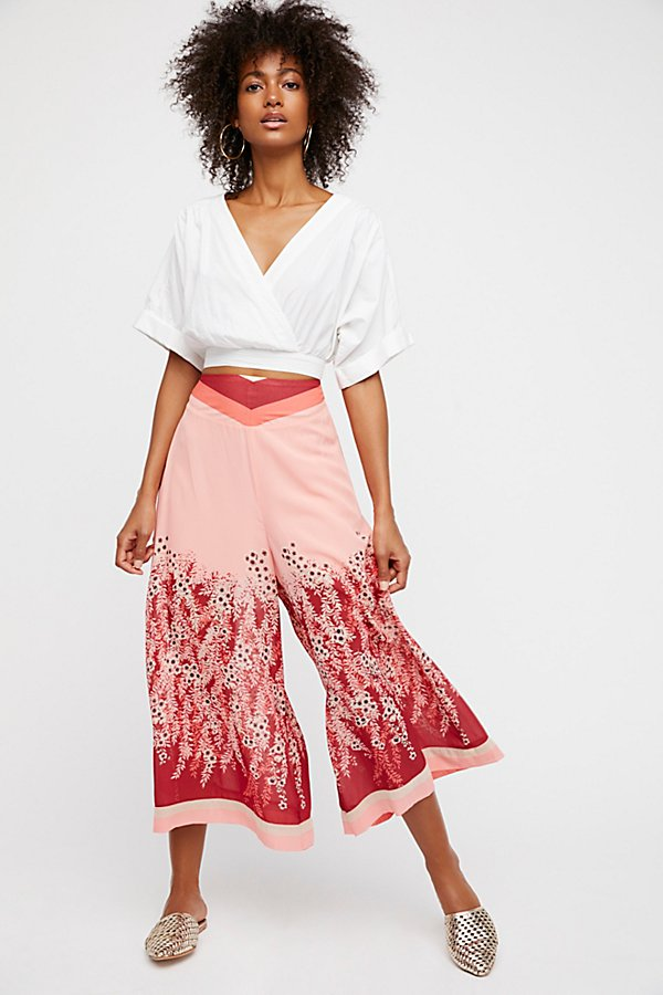 Slide View 1: Off The Grid Printed Culottes