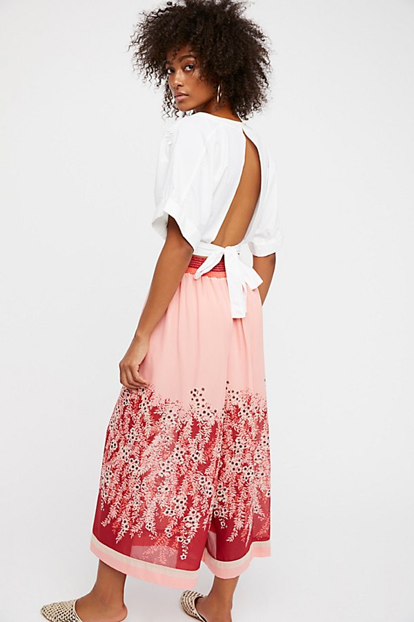 Slide View 2: Off The Grid Printed Culottes