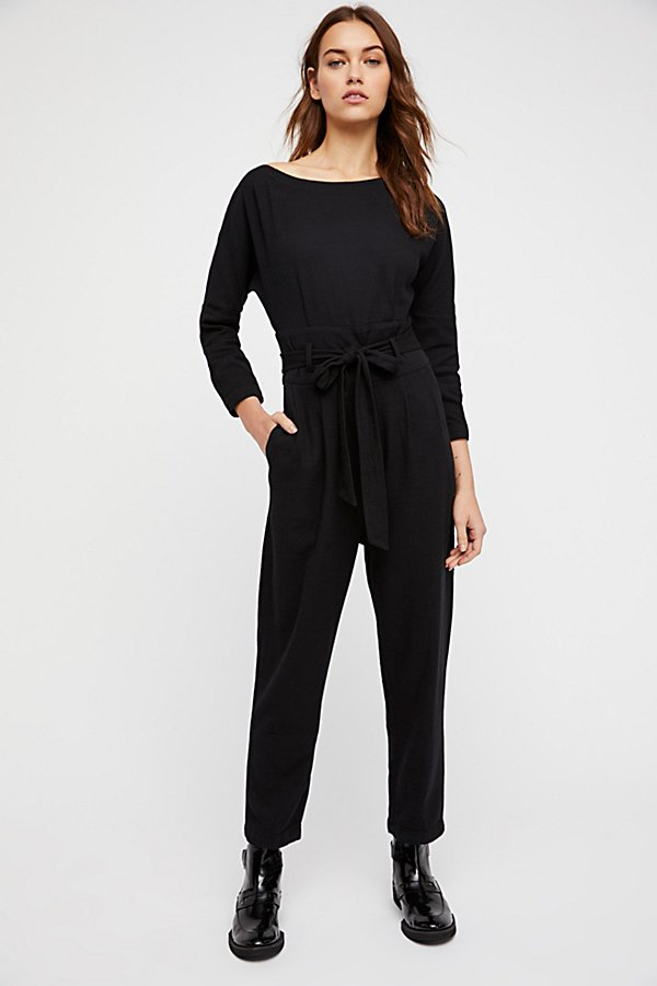 Slide View 1: Biffy Belted One-Piece Jumpsuit