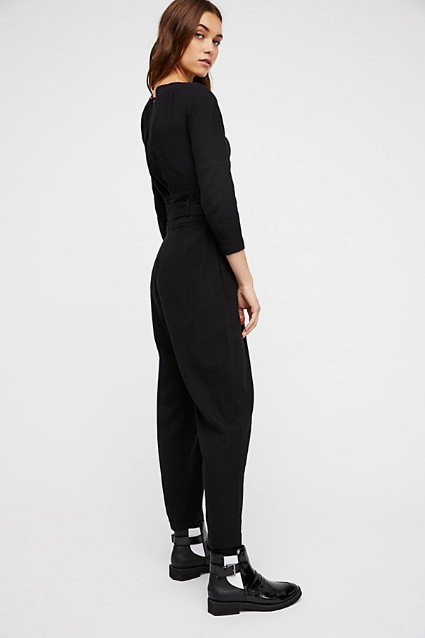 Slide View 2: Biffy Belted One-Piece Jumpsuit