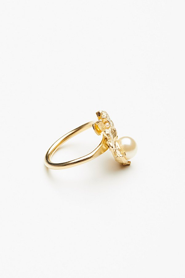 Slide View 3: Bumble Bee Pearl Ring