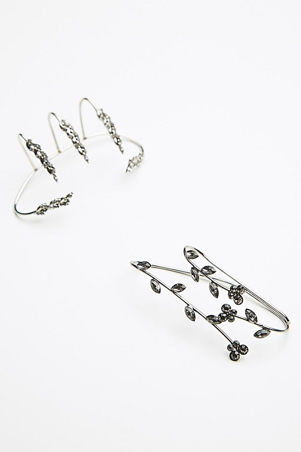 Slide View 2: Delicate Crystal Palm Cuff Set