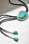 Thumbnail View 1: Sterling Turquoise Leather Bolo