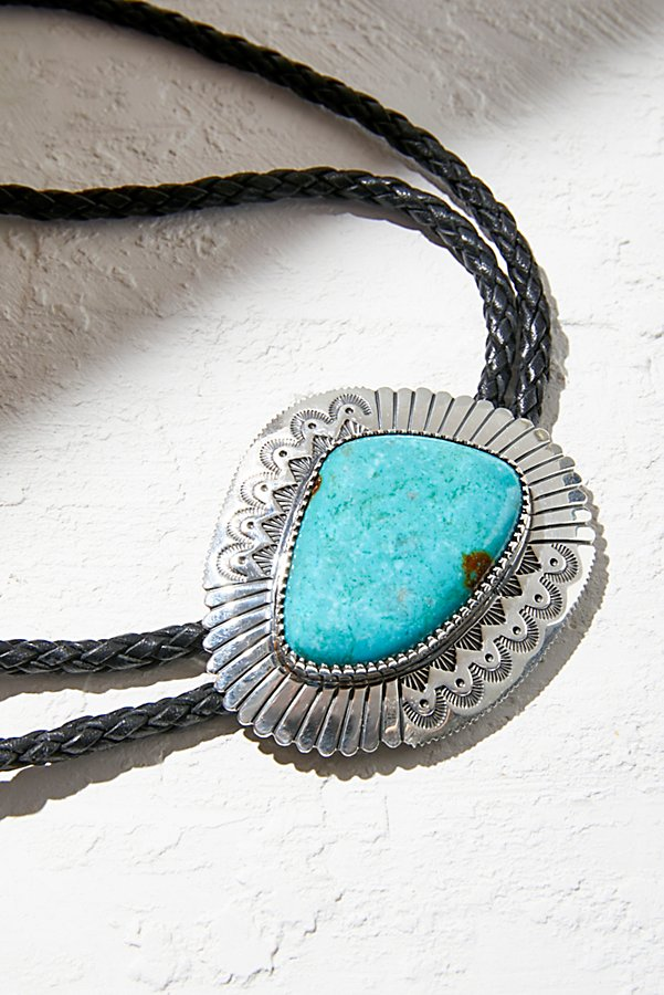 Slide View 3: Sterling Turquoise Leather Bolo