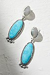 Thumbnail View 1: Sterling Turquoise Drop Earrings