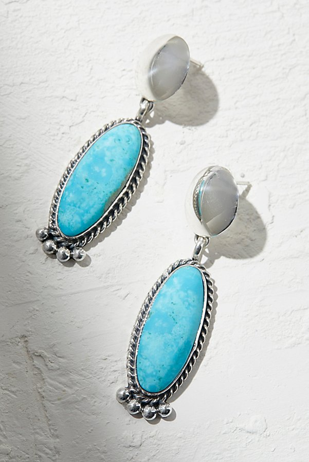 Slide View 1: Sterling Turquoise Drop Earrings