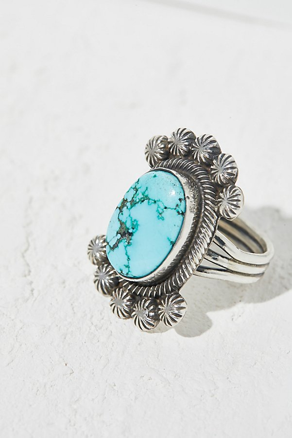 Slide View 1: China Mountain Turquoise Ring