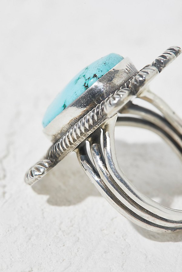 Slide View 3: China Mountain Turquoise Ring