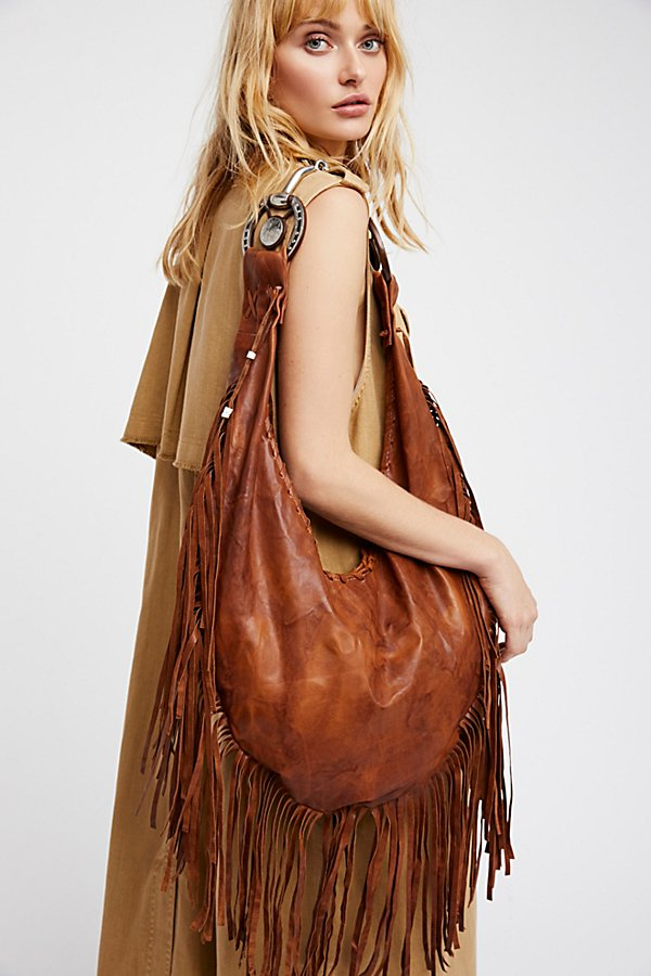 Slide View 1: Willow Fringe Hobo