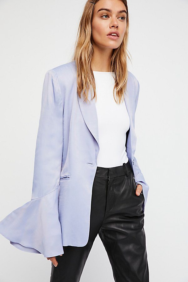 Slide View 1: Flared Sleeve Satin Blazer