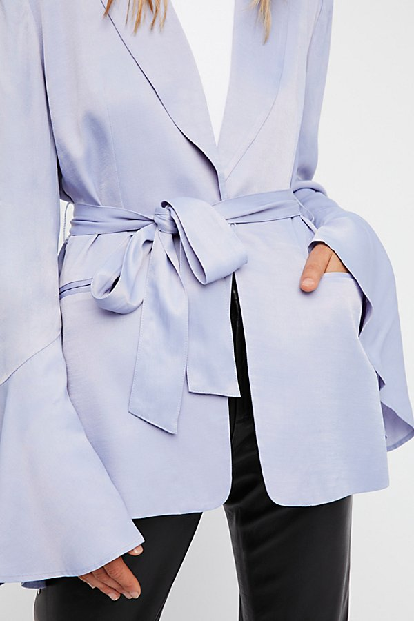 Slide View 4: Flared Sleeve Satin Blazer