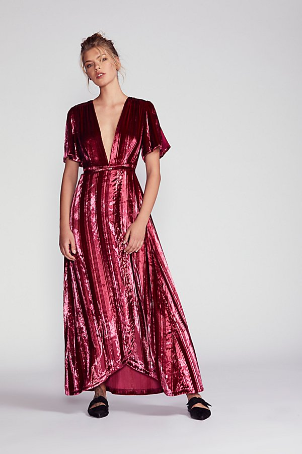 Slide View 1: Kara Velvet Wrap Dress