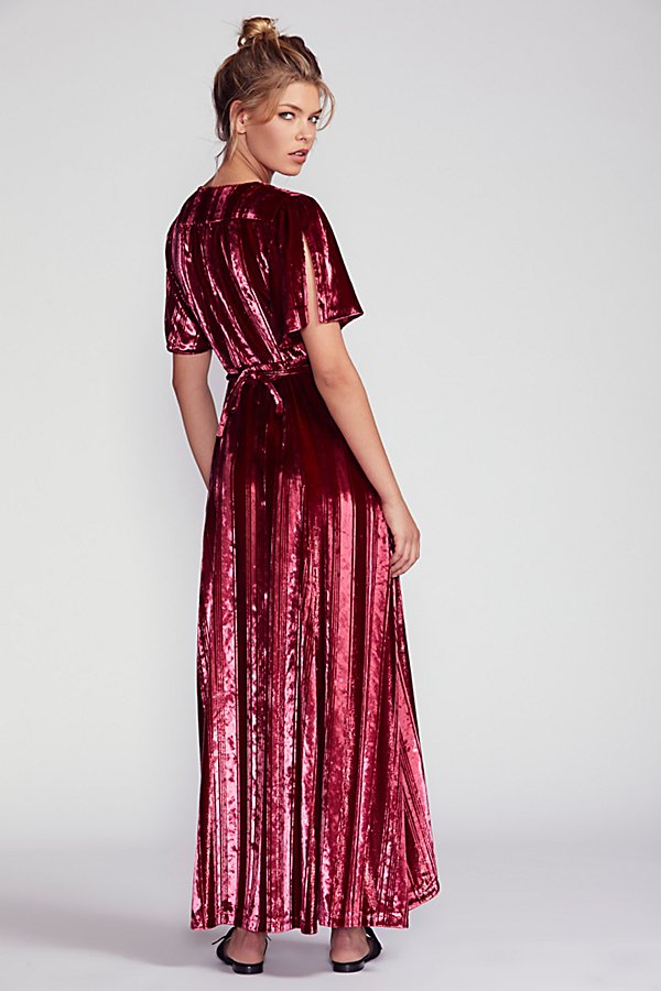Slide View 3: Kara Velvet Wrap Dress