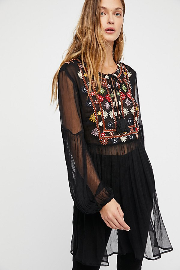 Slide View 1: Wanderlust Embroidered Tunic