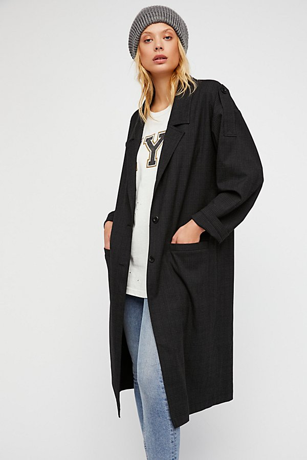 Slide View 2: Maxi Menswear Duster