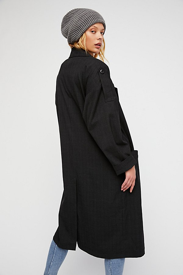Slide View 4: Maxi Menswear Duster