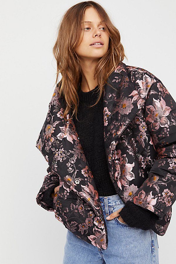 Slide View 1: Jacquard Puffer Jacket