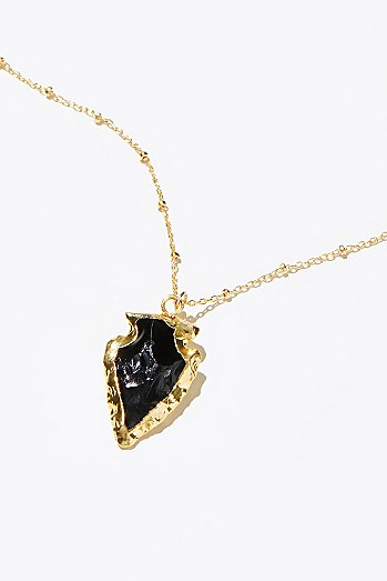 Electroplated Natural Charm Necklace