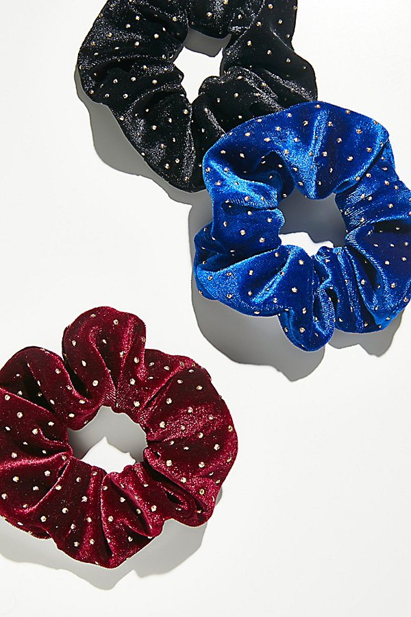 Slide View 1: Studded Velvet Scrunchie