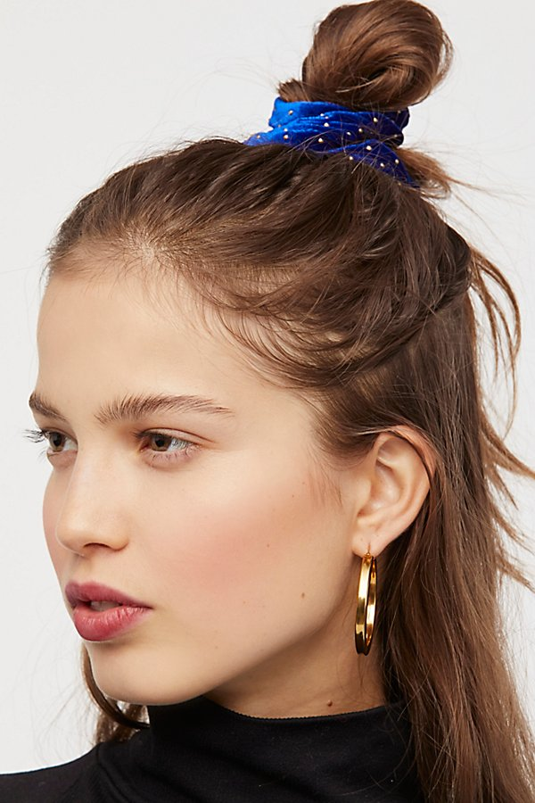 Slide View 4: Studded Velvet Scrunchie