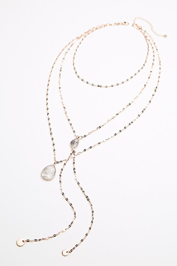 Slide View 2: Shimmer Chain Stone Necklace