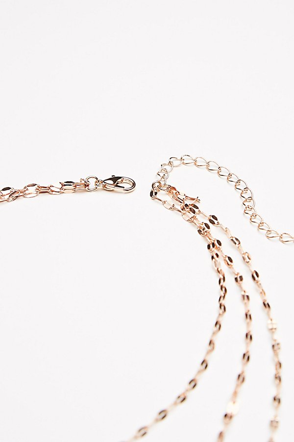 Slide View 5: Shimmer Chain Stone Necklace