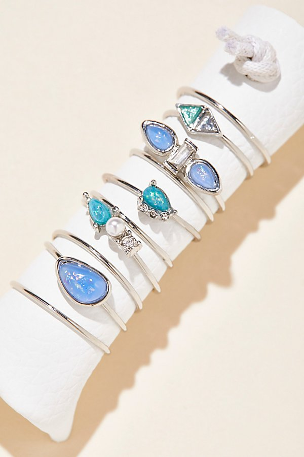 Slide View 1: Delicate Opal Ring Set of 10