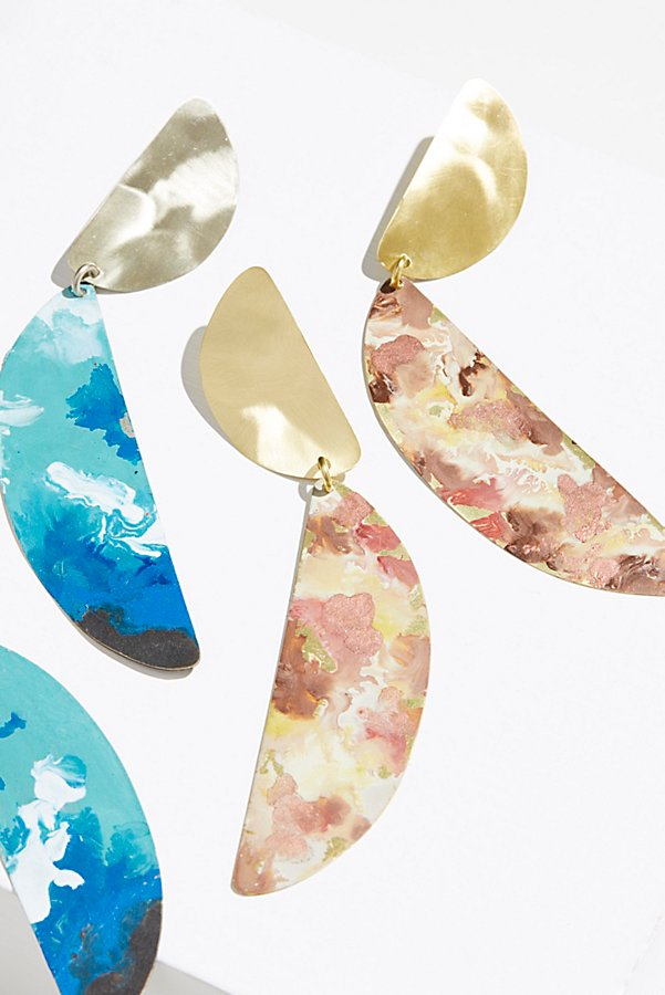 Slide View 1: Marble Patina Statement Earrings