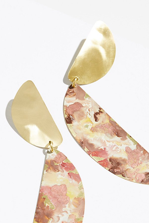 Slide View 2: Marble Patina Statement Earrings