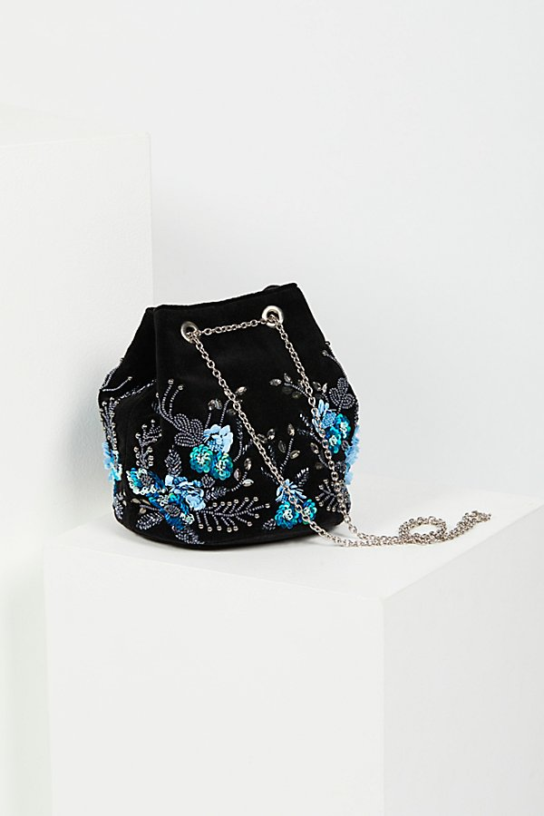 Slide View 2: Floral Embroidered Bucket Bag