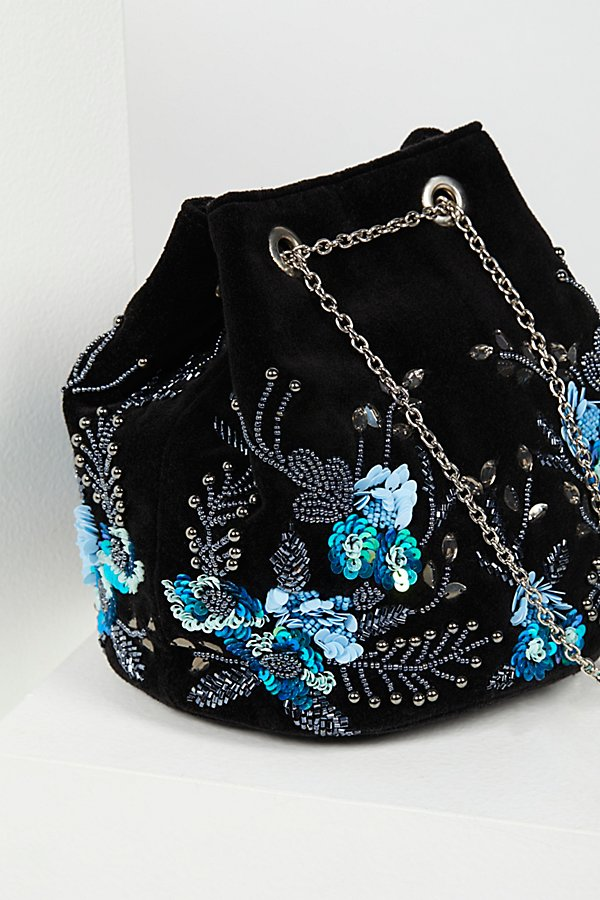 Slide View 3: Floral Embroidered Bucket Bag